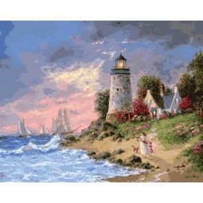 Перед штормом Раскраска ( картина ) по номерам акриловыми красками на холсте Белоснежка