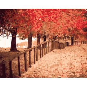 Осенняя пора Раскраска ( картина ) по номерам акриловыми красками на холсте Белоснежка