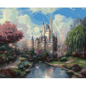 Сказочный замок Раскраска ( картина ) по номерам акриловыми красками на холсте Белоснежка