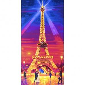 Эйфелева башня ночью Раскраска по номерам акриловыми красками Schipper (Германия)
