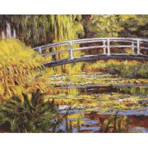 Пруд по мотивам Моне Раскраска ( картина ) по номерам акриловыми красками на холсте Белоснежка