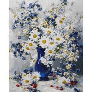 Любимые цветы Раскраска ( картина ) по номерам акриловыми красками на холсте Белоснежка