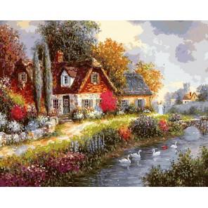 Летний день Раскраска ( картина ) по номерам акриловыми красками на холсте Белоснежка