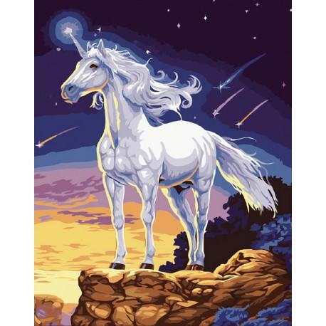 На краю мира Раскраска ( картина ) по номерам акриловыми красками на холсте Белоснежка