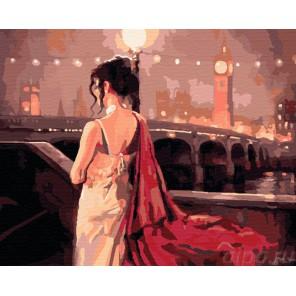 Вечер в Лондоне Раскраска ( картина ) по номерам акриловыми красками на холсте Iteso