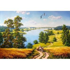 Деревенская дорога Алмазная вышивка (мозаика) Гранни