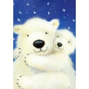Белые медведи Алмазная вышивка (мозаика) Гранни