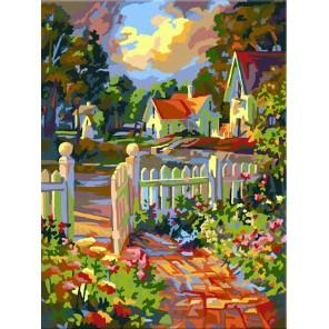 За калиткой Раскраска картина по номерам акриловыми красками Plaid