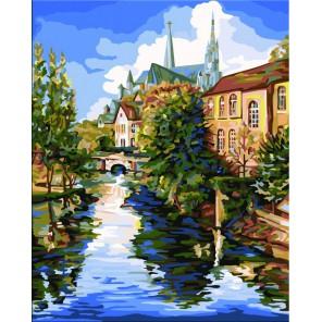 Шартрский собор (художник Боб Петтес) Раскраска картина по номерам акриловыми красками Plaid