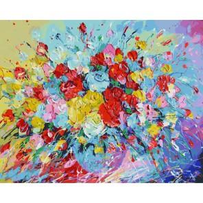 Фейерверк из роз Раскраска ( картина ) по номерам акриловыми красками на холсте Белоснежка