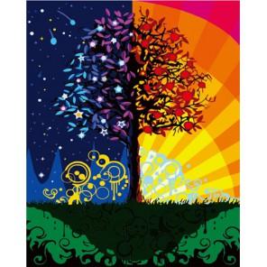 Дерево счастья 50х65см Раскраска по номерам акриловыми красками на холсте Menglei