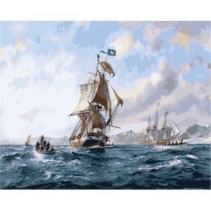 В открытом море Раскраска (картина) по номерам акриловыми красками на холсте Menglei