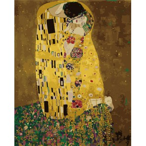 Поцелуй Густав Климт Раскраска (картина) по номерам на холсте Menglei