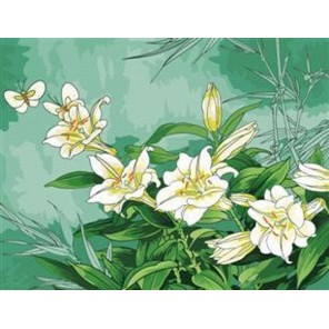 Лилии Раскраска по номерам на холсте Menglei