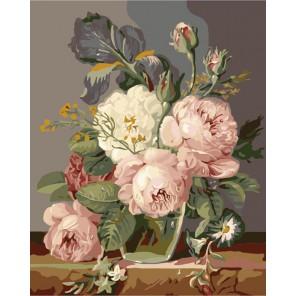 Нежный букет Раскраска (картина) по номерам акриловыми красками на холсте Menglei