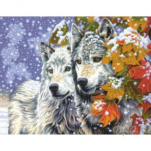 Ранний снег Раскраска (картина) по номерам акриловыми красками Dimensions