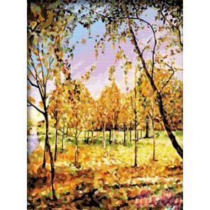 В осенних тонах Раскраска (картина) по номерам акриловыми красками на холсте Molly