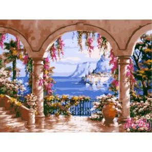 Вид с террасы Раскраска (картина) по номерам на холсте Molly