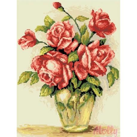 Нежные розы Алмазная вышивка (мозаика) Molly