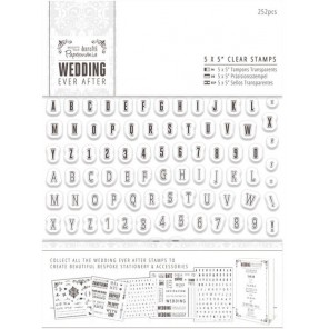 Мини алфавит и цифры Wedding Штампы для скрапбукинга, кардмейкинга Docrafts