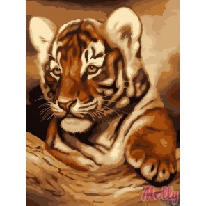 Тигрёнок Раскраска (картина) по номерам на холсте Molly