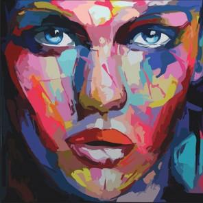 Женский абстрактный портрет Раскраска по номерам акриловыми красками на холсте Color Kit