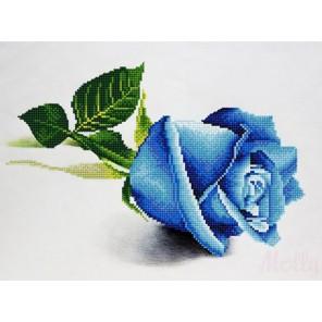 Голубая роза Алмазная частичная вышивка (мозаика) Molly