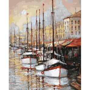 Летний вечер на юге Франции Раскраска ( картина ) по номерам акриловыми красками на холсте Белоснежка