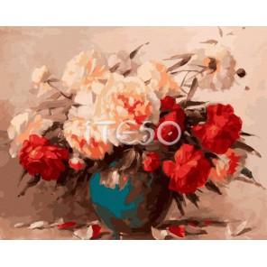 Сочные пионы Раскраска ( картина ) по номерам акриловыми красками на холсте Iteso