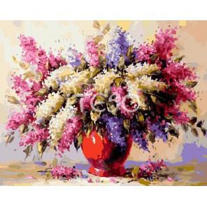 Сирень Раскраска ( картина ) по номерам акриловыми красками на холсте Iteso