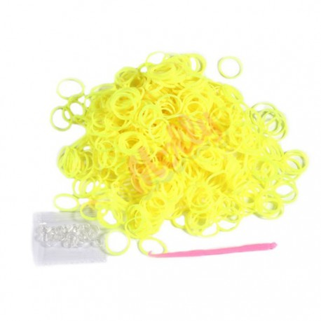 Желтые Светящиеся в темноте Резиночки для плетения Molly