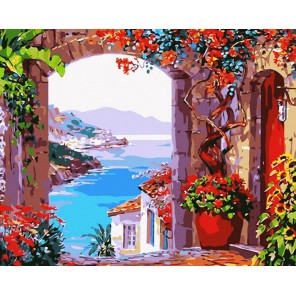 Вид на залив Раскраска (картина) по номерам акриловыми красками на холсте Menglei
