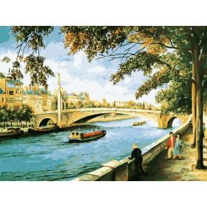 Риверсайд Раскраска ( картина ) по номерам акриловыми красками на холсте Белоснежка