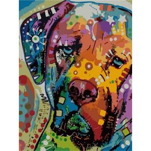 Щенок Раскраска по номерам акриловыми красками на холсте