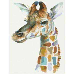 Жираф Раскраска по номерам на холсте
