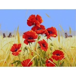 Пшеничное поле Раскраска по номерам акриловыми красками на холсте Menglei