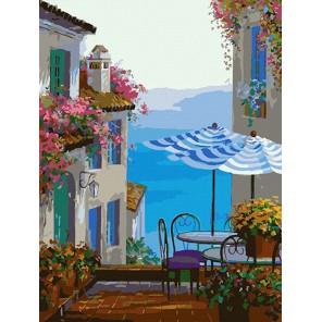 Средиземноморское кафе Раскраска по номерам акриловыми красками на холсте Color Kit