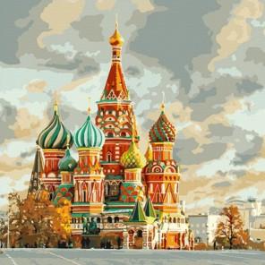 Храм Василия Блаженного Раскраска по номерам на холсте Color Kit