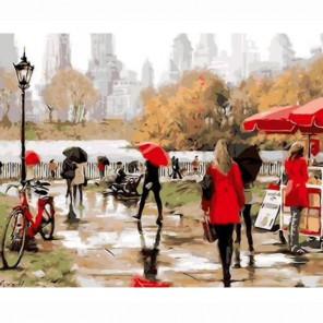 Осенний променад Раскраска по номерам акриловыми красками на холсте Живопись по номерам (Paintboy)