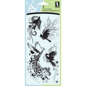 Птицы Штампы прозрачные Набор для скрапбукинга, кардмейкинга Inkadinkado