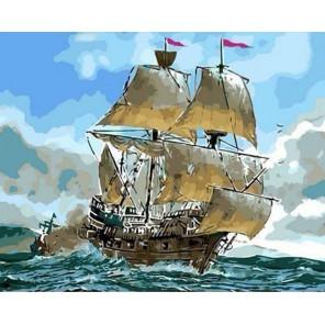 Парусное судно Раскраска по номерам акриловыми красками на холсте Живопись по номерам (Paintboy)