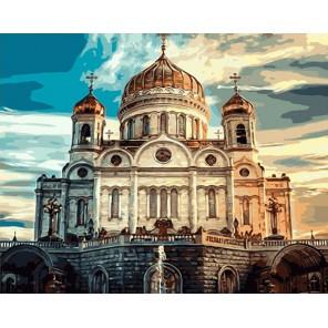 Храм Христа Спасителя Раскраска по номерам на холсте Color Kit