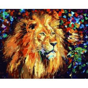 Благородный лев Раскраска по номерам акриловыми красками на холсте Color Kit