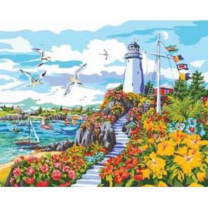 Рай на побережье Раскраска картина по номерам акриловыми красками Plaid   Купить раскраски по номерам