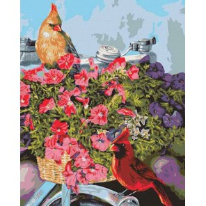 Весенний велосипед Раскраска картина по номерам Plaid