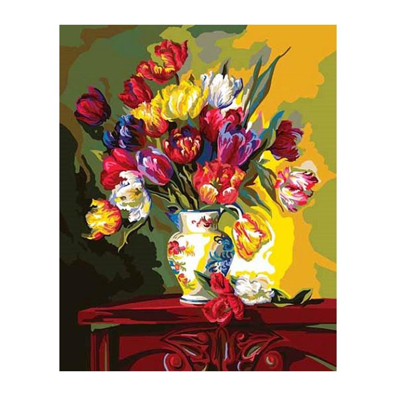 Заказать картины для рисования цветы размер 70на 50 подарок для богатой женщине