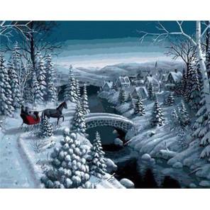Зимняя прогулка Раскраска картина по номерам акриловыми красками на холсте Живопись по номерам (Paintboy) | Раскраски по номерам