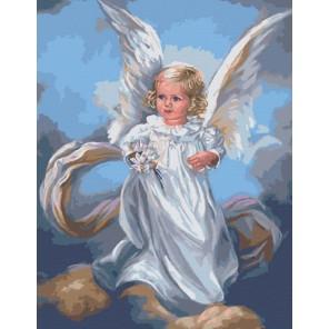 Ангел небесный Раскраска картина по номерам акриловыми красками на холсте Menglei | Картина по номерам купить