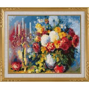 С канделябром Раскраска картина по номерам акриловыми красками на холсте Menglei | Картина по номерам купить