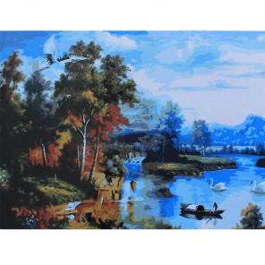 Осенняя пастораль Раскраска картина по номерам акриловыми красками на холсте Живопись по номерам (Paintboy)